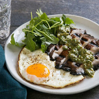 "Vegetarian ""Steak & Eggs"""
