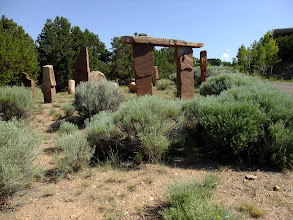 Photo: Stonehenge? In the upscale suburbs of Santa Fe