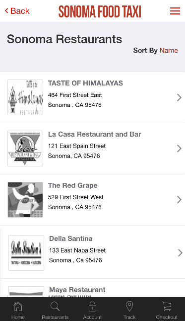Sonoma Food Taxi- screenshot