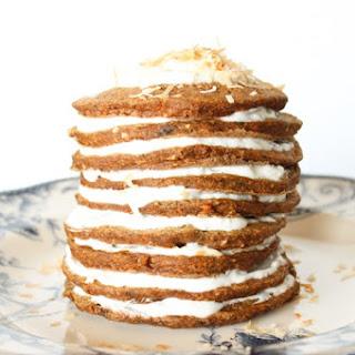 Guiltless Carrot Cake Pancakes.
