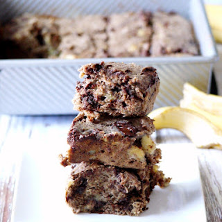 Dark Chocolate Banana Bread Brownies