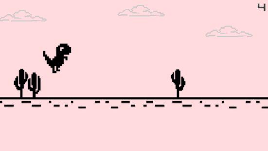 Dino Hurdles: Pixel Dinosaur for PC and MAC