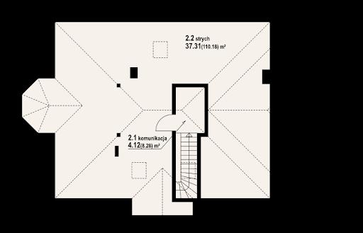 Zadębie średnie z garażem - Strych
