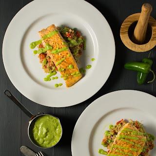 Salmon With Quinoa Salad.