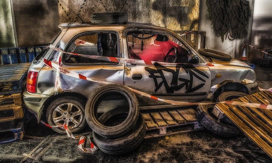 Old car by Steve Dormer - City,  Street & Park  Street Scenes