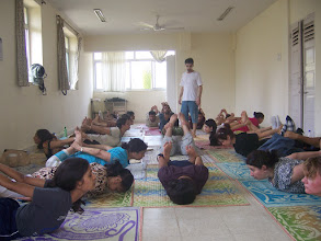 Photo: 1 Month YTT Course - Batch of April 2008 - Daniel Fonseca conducting Yoga Asana Practice.
