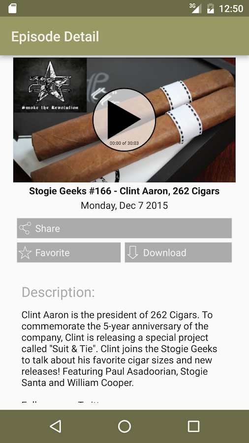 Stogie Geeks TV- screenshot
