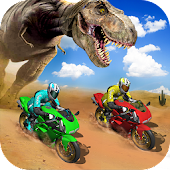 Offroad Dino Escape Heavy Bike Racing