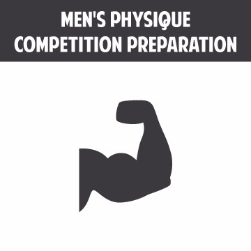 Specialized training in men's physique competition preparation.