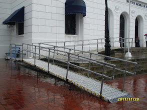 Photo: Art Theatre in Panama installed a ramp with handrails to provide wheelchair access.