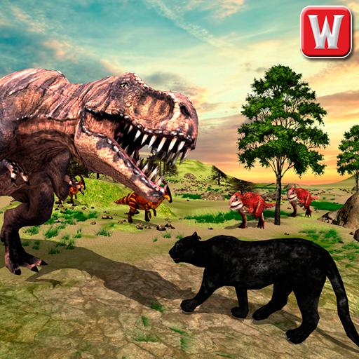 Wild Black Panther VS Dinosaur Survival Simulator