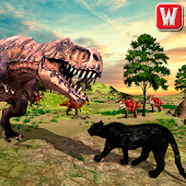 Wild Black Panther VS Dinosaur Survival Simulator