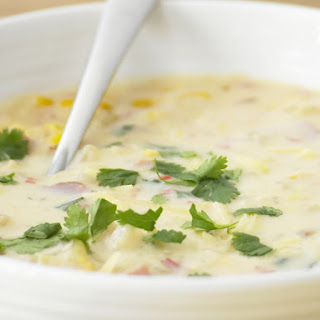 Spicy Corn and Cilantro Chowder