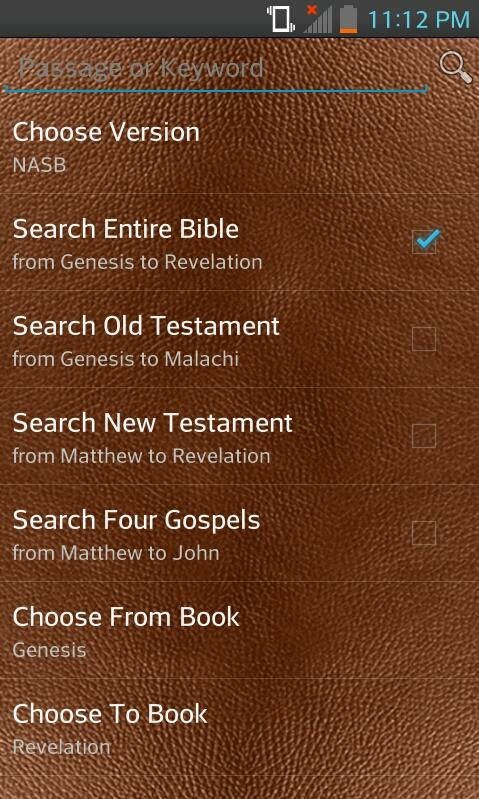 Bible NASB (English)- screenshot