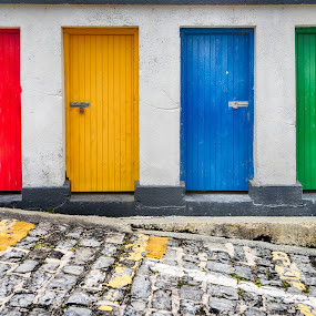 Lock Up by Jebark Fineartphotography - Buildings & Architecture Other Exteriors ( doors, ireland, harbor, colors, fishing, historical, rustic )