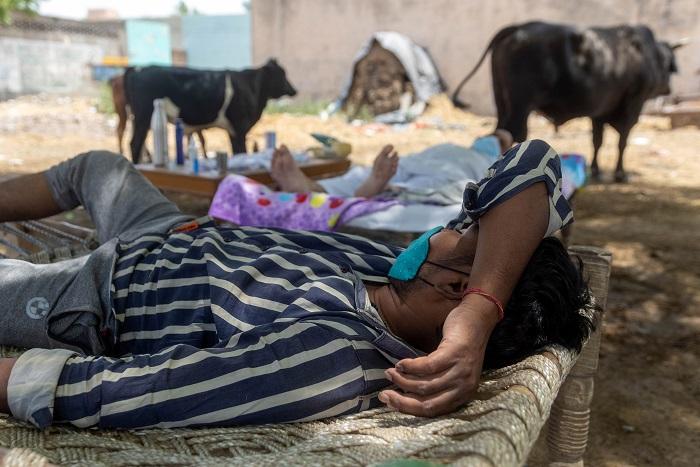 村民们呼吸困难,在婴儿床北方北方北方北方北方北方北方北部的威尔卡·普罗尔村,在印度北方北方州北方州北方州北方北方州北方北方州北方北部,村民们休息困难。