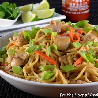 Thai Peanut Chicken Pasta Recipe
