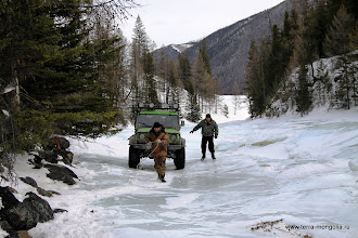 Photo: Странно намерзает лед: на берегах он гораздо выше.