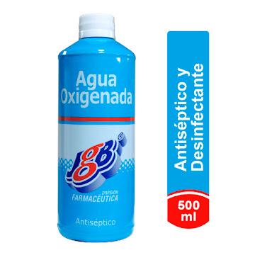 Agua Oxigenada Antiséptico Fco X500ml Jgb Peróxido De Hidrogeno