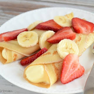 Strawberry Banana Crepe.