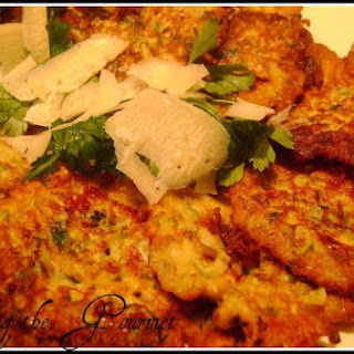 Living The Gourmet Zucchini Fritters
