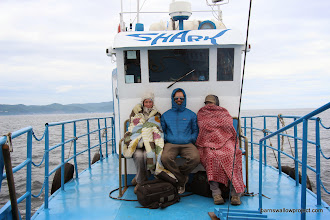 Photo: It's cold on Lake Baikal in July!
