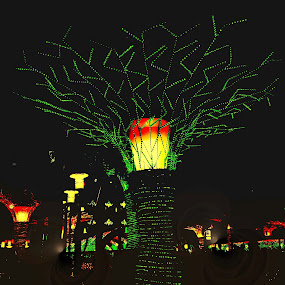 let it glow by Erl de Jose - Public Holidays Christmas ( plaza, glowing, decorations, christmas lights, lights,  )