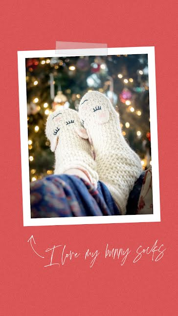 Bunny Socks - Christmas Template