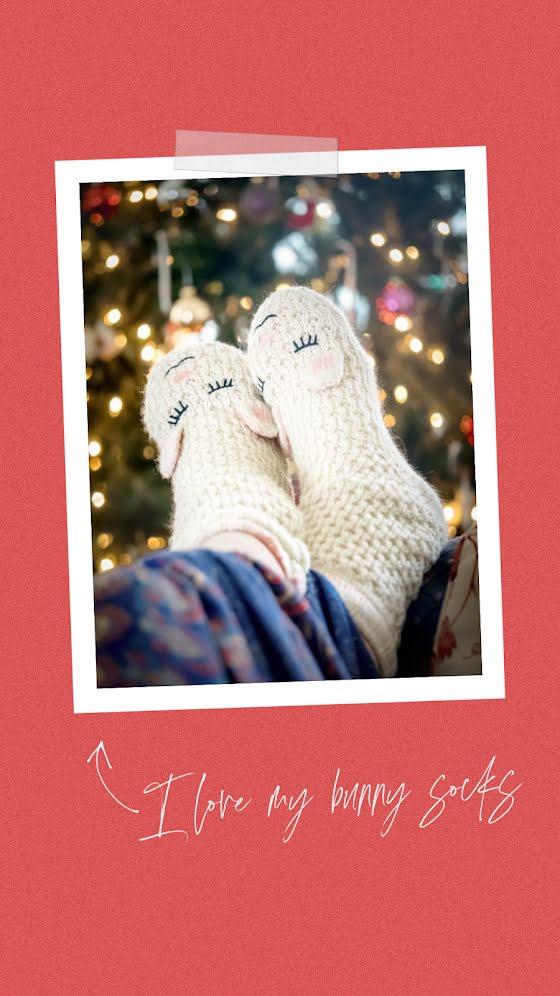 Bunny Socks - Christmas Template