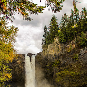 Snohomish Falls by Eric Wellman - Landscapes Waterscapes ( washington, waterfall, snohomish,  )