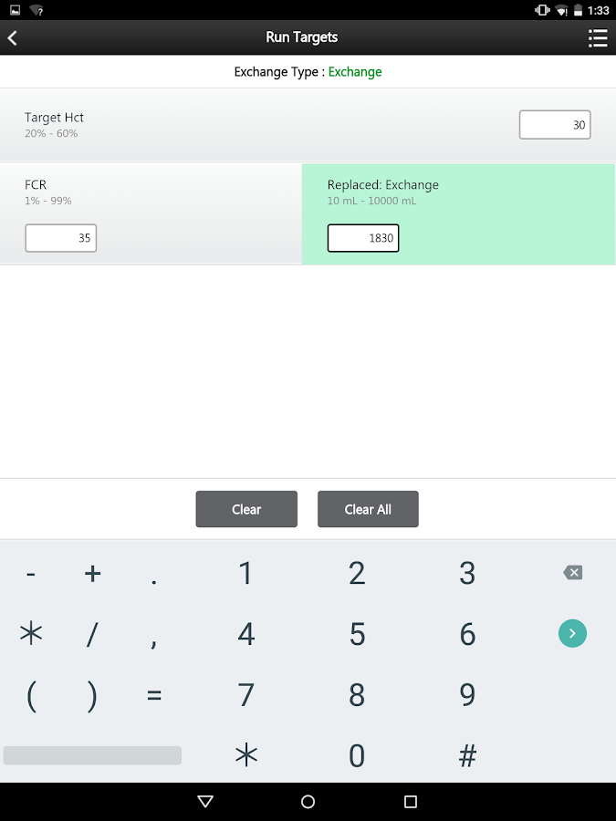 RBCX Calculation Tool- screenshot