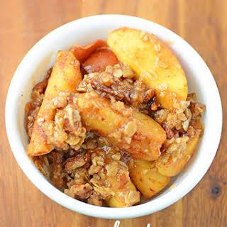 Crock Pot Praline Apple Crisp.
