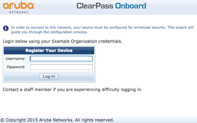 ClearPass Onboard