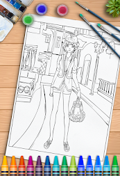 Young Ladies Painting Pages APK screenshot thumbnail 12