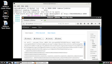 Photo: The REMnux project packages several malware analysis tools as Docker images. One of these is a container running JSDetox, a browser-based JavaScript deobfuscation tool bySven Taute.