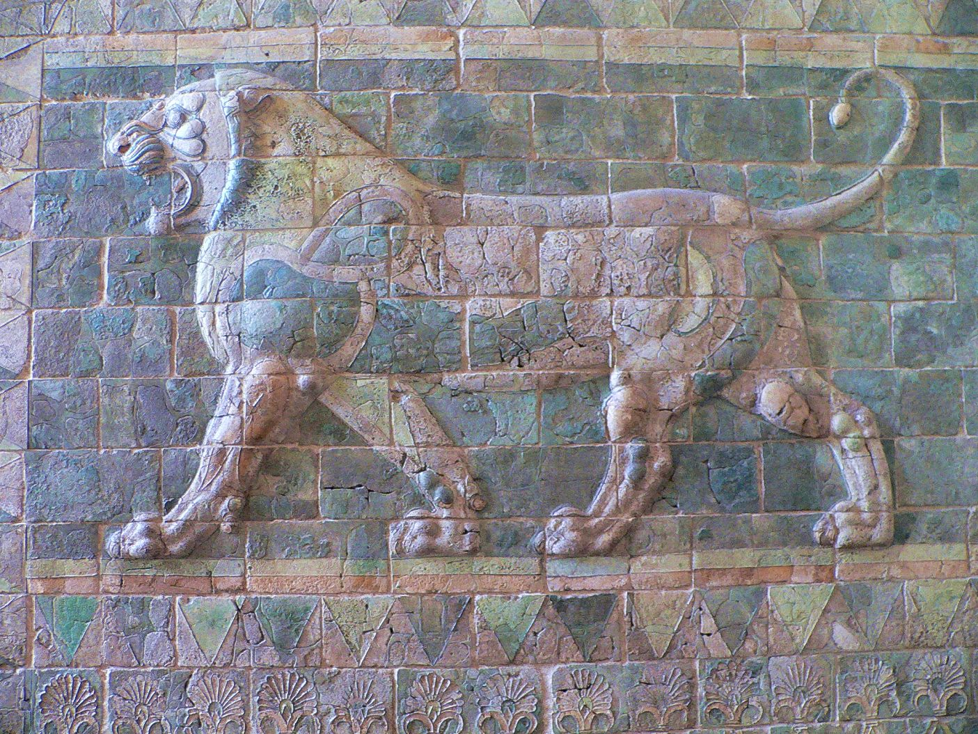 Ancient Persian, Lion Frieze from the Palace of Darius I, c 510 BC
