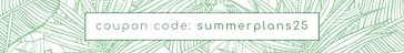 Summer Plans Coupon Code - Etsy Shop Mini Banner Template