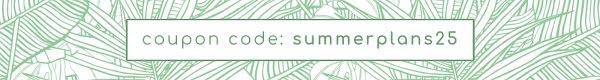 Summer Plans Coupon Code - Etsy Shop Mini Banner Template
