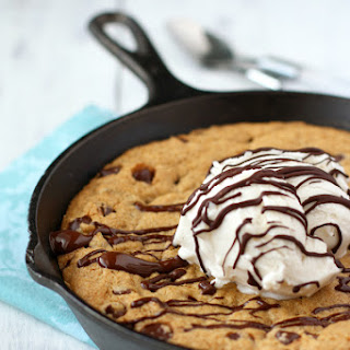 Vegan and Gluten Free Chocolate Chip Skillet Cookie (Pizookie)..