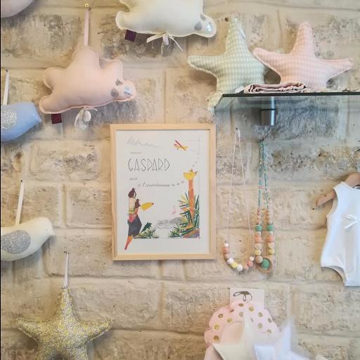 Pâpier Mâché - cadeau de naissance - affiche enfant personnalisée - illustre Albert