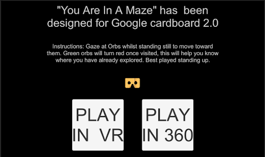 You Are In A Maze : VR- screenshot thumbnail