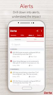 Zerto Mobile - náhled