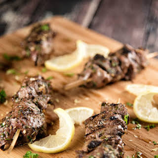 Mediterranean Beef Skewers.