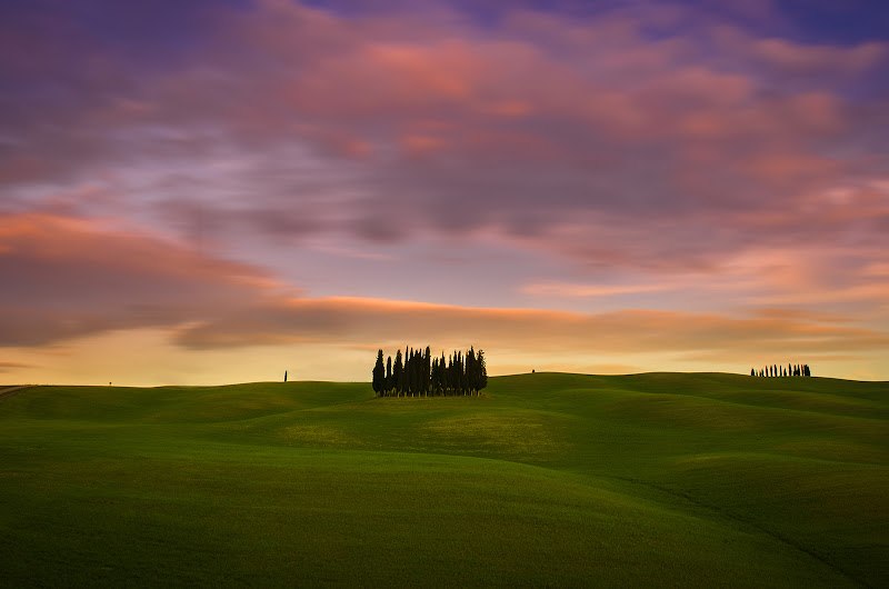 tramonto in Val d'orcia  di marcovp