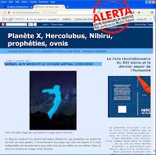 Photo: O blog indicado pela Associação Alcione associa as profecias com psicografias mediúnicas, como veremos na próxima página -------------------------->>>>