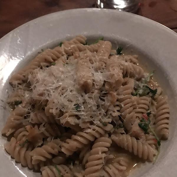 Gluten free pasta al vongole