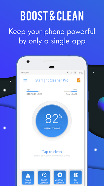Starlight Cleaner - Phone Cleaner and Booster Android App Screenshot