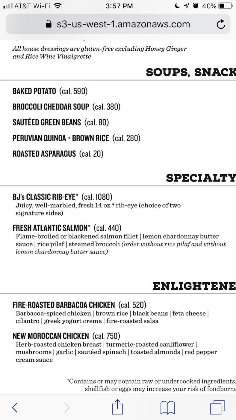 Bj S Brewhouse Gluten Free Burbank 2020