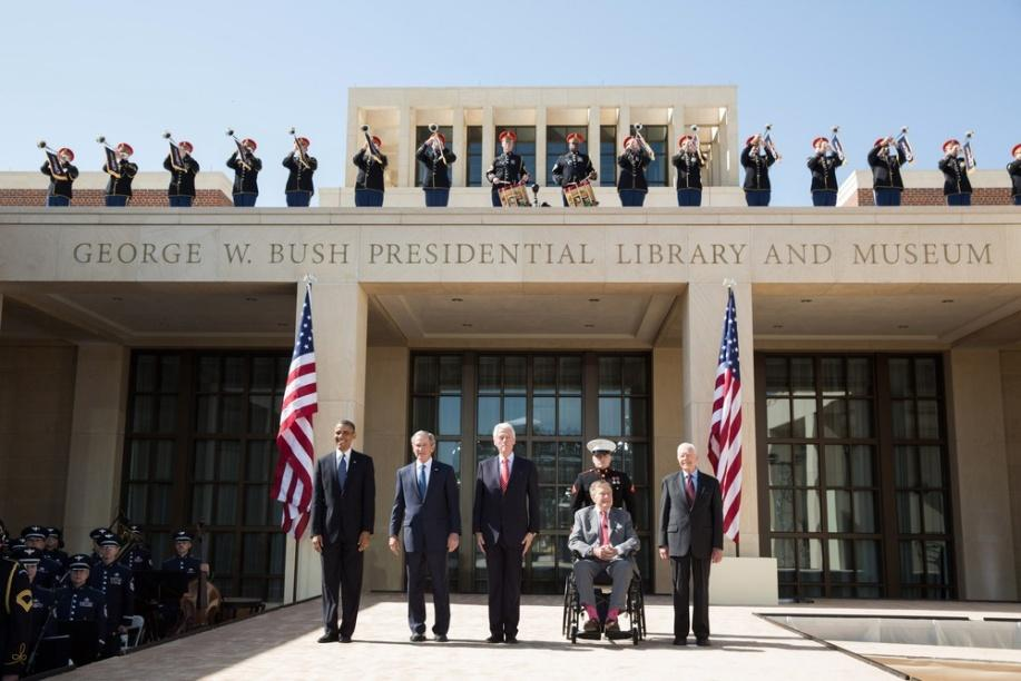 C:\Users\Giao Chi\Desktop\George_W__Bush_Presidential_Center_dedication_tif.jpg
