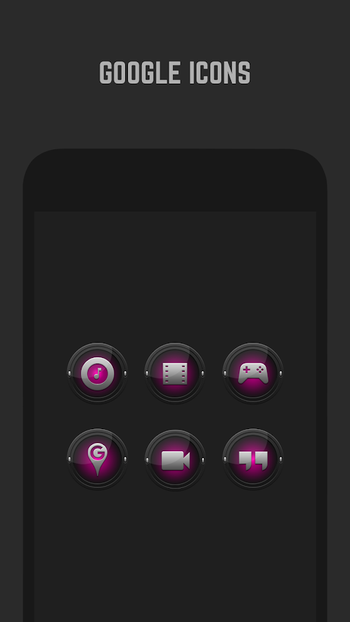 Black and Pink Icon Pack- screenshot